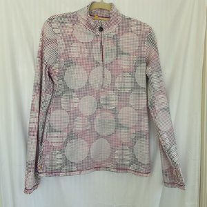 Lole Pullover Zip Long Sleeve Top | Pink Dots | L